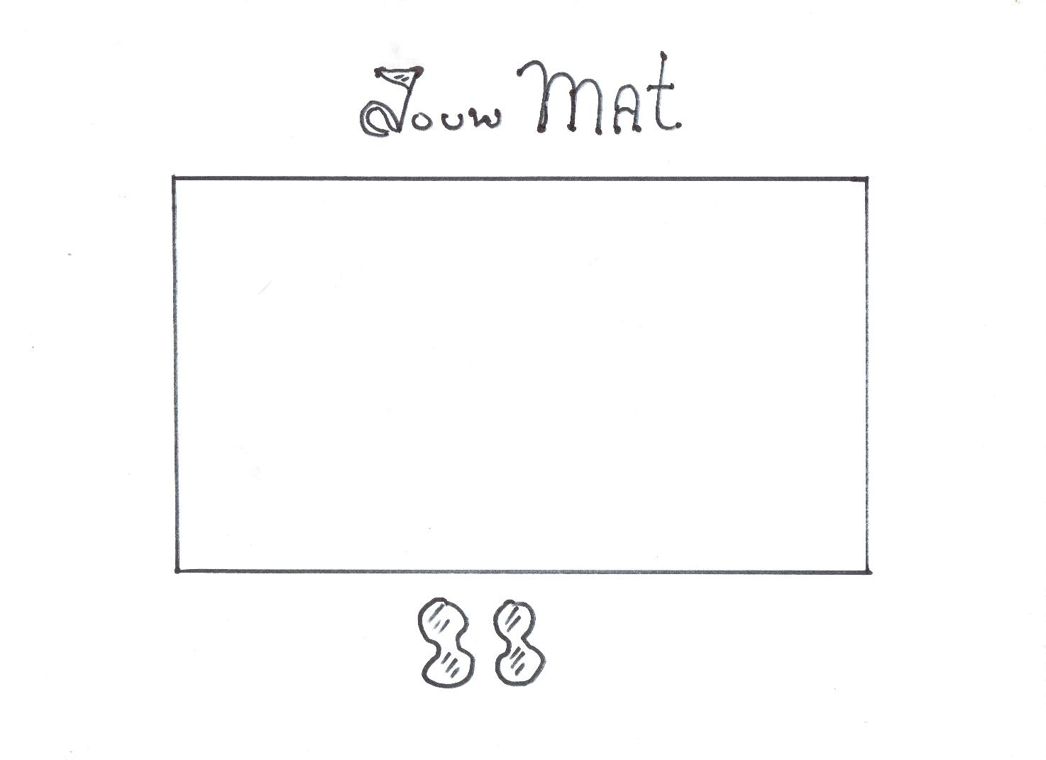 Op de afbeelding is een lege mat te zien.